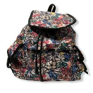 LeSportsac Backpack Floral Voyager Black Doodle